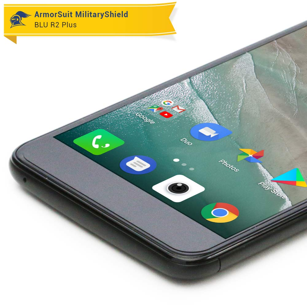wholesale dealer f1b14 dba39 BLU R2 Plus Case Friendly Screen Protector - ArmorSuit