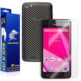 BLU Studio 5.0 CE Screen Protector + Black Carbon Fiber Skin