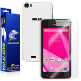 BLU Studio 5.0 CE Screen Protector + White Carbon Fiber Skin