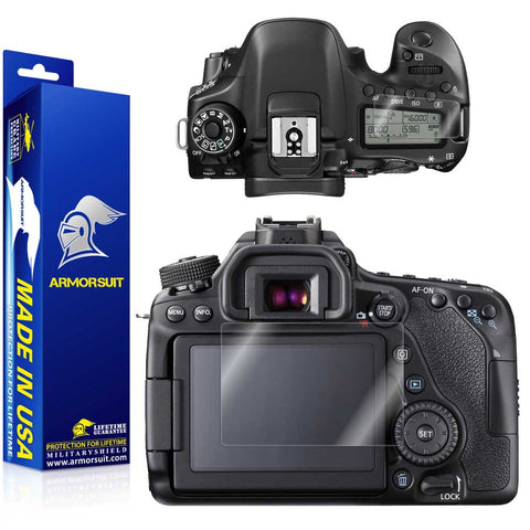 Canon EOS 80D / 70D Camera Screen Protector (Top LCD Protector Included)
