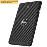Dell Venue 7 Screen Protector + Black Carbon Fiber Film Protector