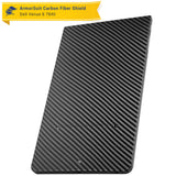 Dell Venue 8 7840 Screen Protector + Black Carbon Fiber Skin