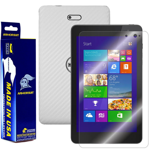 Dell Venue 8 Pro Screen Protector + White Carbon Film Protector