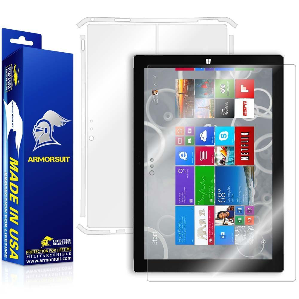 Microsoft Surface Pro 3 Screen Protector + Full Body Skin Protector