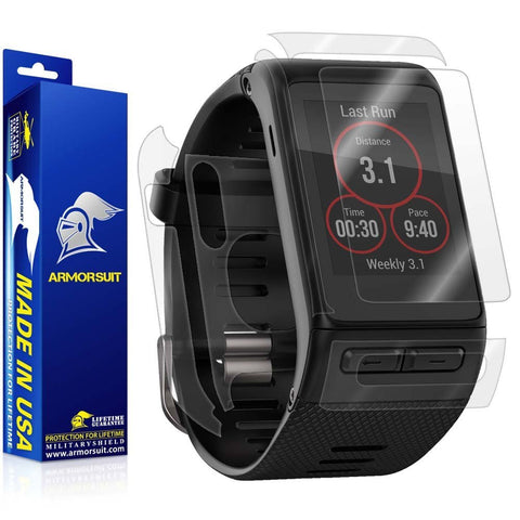 Garmin Vivoactive HR Screen Protector + Full Body Skin (Front & Back)
