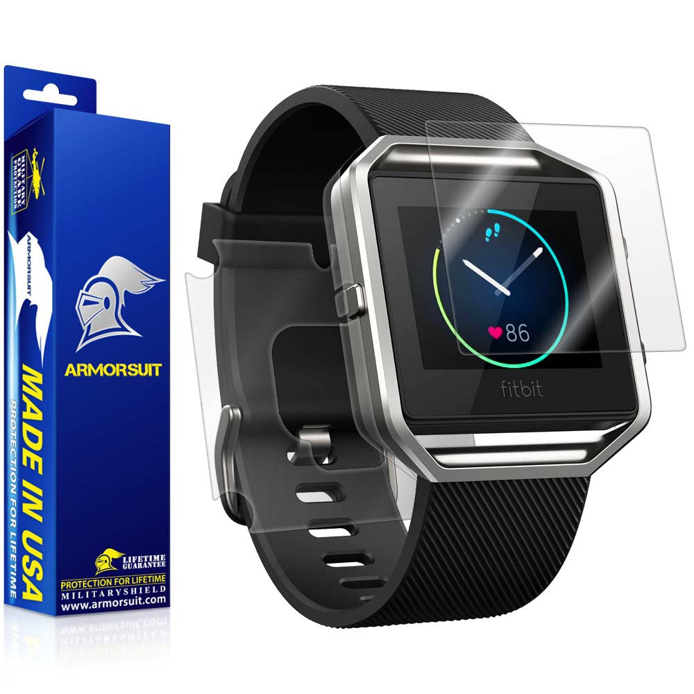 Fitbit Blaze Screen Protector + Full Body Skin (Front & Back)