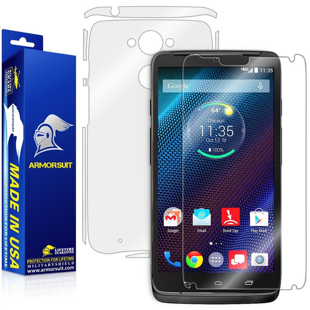 Motorola Droid Turbo Full Body Skin (Not For Special Edition Ballistic Nylon Version)