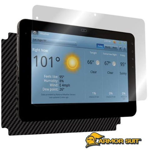 ViewSonic G Tablet Screen Protector + Black Carbon Fiber Skin Protector