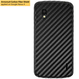 LG Nexus 4 Screen Protector + Black Carbon Fiber Film Protector