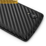 LG Nexus 5 Screen Protector + Black Carbon Fiber Film Protector
