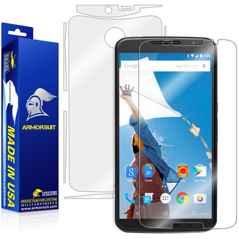 Google Nexus 6 Screen Protector + Full Body Skin Protector