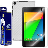 Google Nexus 7 (2nd Generation) Screen Protector + White Carbon Fiber