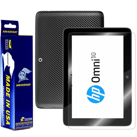 HP Omni 10 Screen Protector + Black Carbon Fiber Film Protector