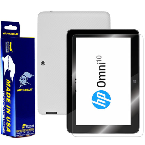 HP Omni 10 Screen Protector + White Carbon Fiber Film Protector