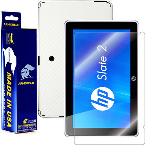 HP Slate 2 Screen Protector + White Carbon Fiber Film Protector