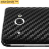 HTC Butterfly Screen Protector + Black Carbon Fiber Film Protector