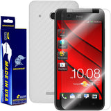 HTC Butterfly Screen Protector + White Carbon Fiber Film Protector