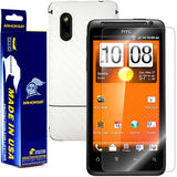 HTC EVO Design 4G Screen Protector + White Carbon Fiber Skin Protector