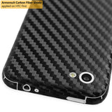 HTC First Screen Protector + Black Carbon Fiber Film Protector