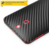 HTC One E8 Screen Protector + Black Carbon Fiber Film Protector