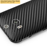 HTC One M8 Screen Protector + Black Carbon Fiber Film Protector