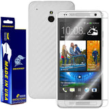 HTC One Mini Screen Protector + White Carbon Fiber Film Protector