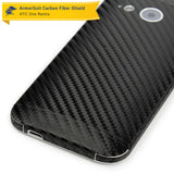 HTC One Remix (One Mini 2) Screen Protector + Black Carbon Fiber Skin