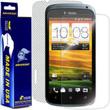 HTC One S Screen Protector + White Carbon Fiber Skin Protector