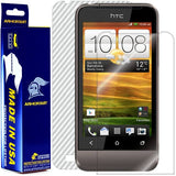 HTC One V Screen Protector + White Carbon Fiber Film Protector