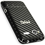 HTC Radar 4G Screen Protector + Black Carbon Fiber Skin Protector