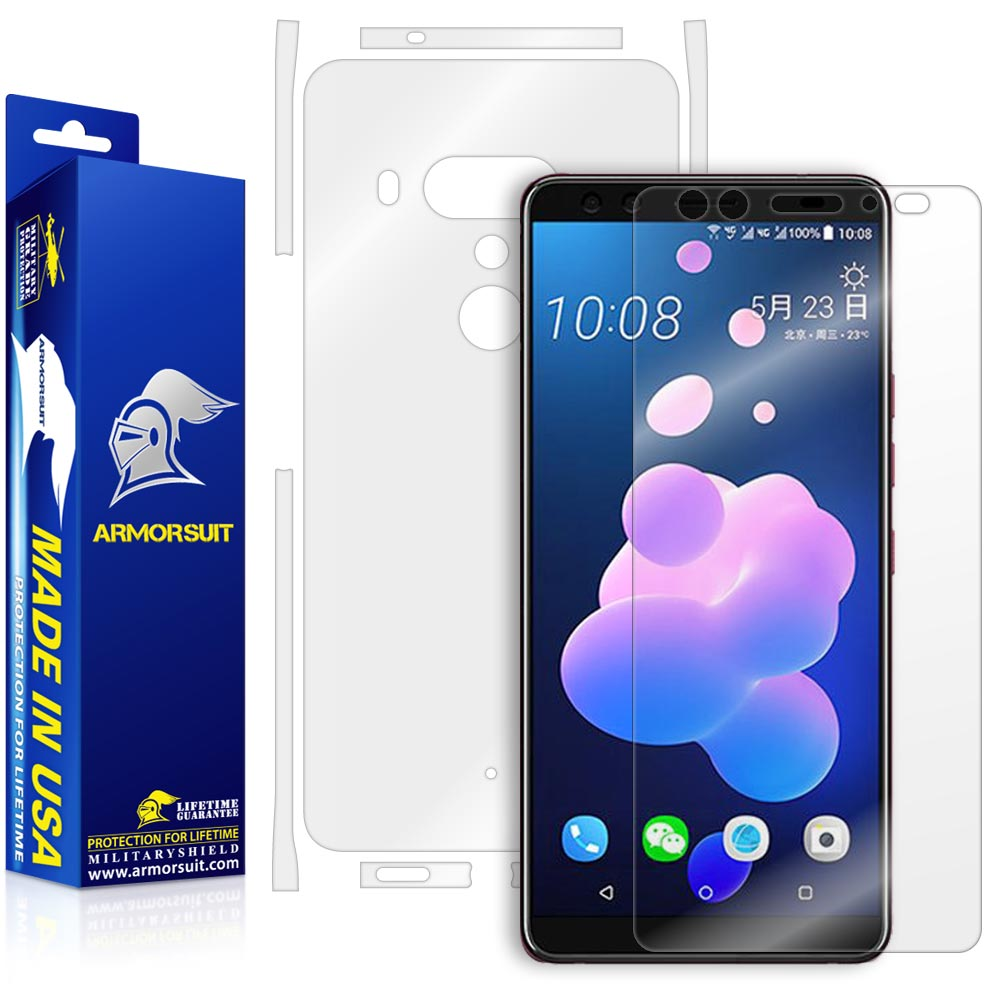 HTC U12 Plus Screen Protector + Full Body Skin Protector