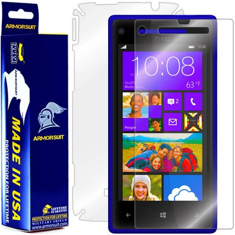 HTC Windows Phone 8X Screen Protector + Full Body Skin Protector