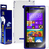 HTC Windows Phone 8X Screen Protector + White Carbon Fiber Film Protector