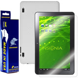 Insignia Flex 10.1 Tablet Screen Protector + White Carbon Fiber Film Protector