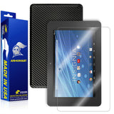 Insignia Flex 8 (Verizon LTE) Tablet Screen Protector + Black Carbon Fiber Skin Protector