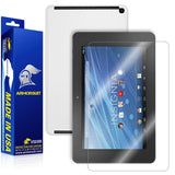 Insignia Flex 8 (Verizon LTE) Tablet Screen Protector + White Carbon Fiber Skin Protector