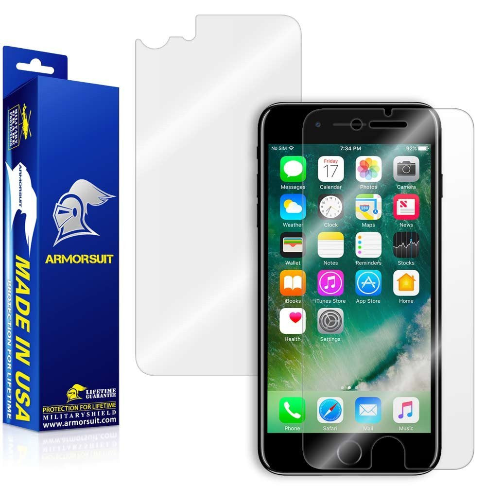 Apple iPhone 7 Screen Protector + Back Protector [Case Friendly]