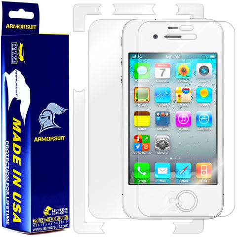 Apple iPhone 4 Screen Protector + Full Body Skin Protector