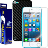 Apple iPod Touch 5G Screen Protector + Black Carbon Fiber Skin