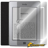 Amazon Kindle Touch Screen Protector + Black Carbon Fiber Skin Protector