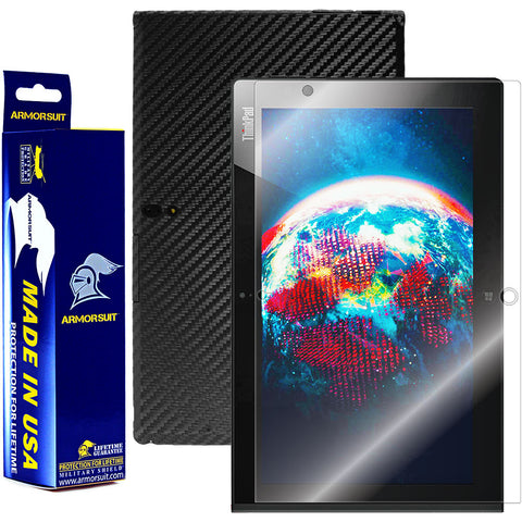 Lenovo Thinkpad 2 Screen Protector + Black Carbon Fiber Film Protector