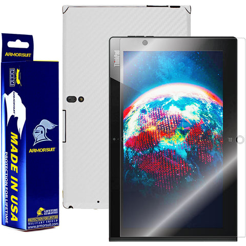Lenovo Thinkpad 2 Screen Protector + White Carbon Fiber Film Protector