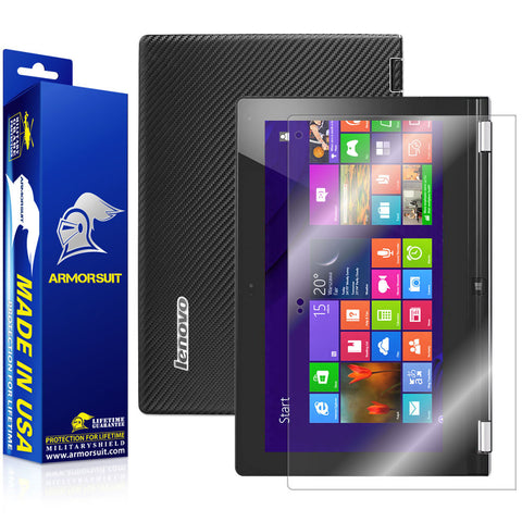 Lenovo Yoga 11S Screen Protector + Black Carbon Fiber