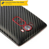 LG G Flex 2 Screen Protector + Black Carbon Fiber Skin Protector