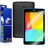 LG G Pad 7.0 Screen Protector + Black Carbon Fiber Film Protector