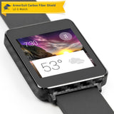 LG G Watch Screen Protector + Black Carbon Fiber Film Protector