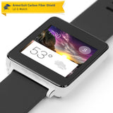 LG G Watch Screen Protector + White Carbon Fiber Film Protector