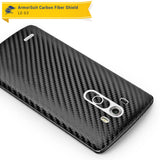LG G3 Screen Protector + Black Carbon Fiber Film Protector