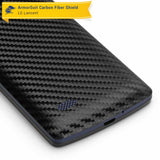 LG Lancet Screen Protector + Black Carbon Fiber Skin