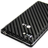 LG Optimus 4X HD Screen Protector + Black Carbon Fiber Skin Protector